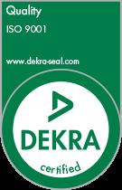 Dekra Seal ISO 9001 Kwalificatie